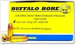 Buffalo Bore Subsonic 9mm Luger 147gr JHP